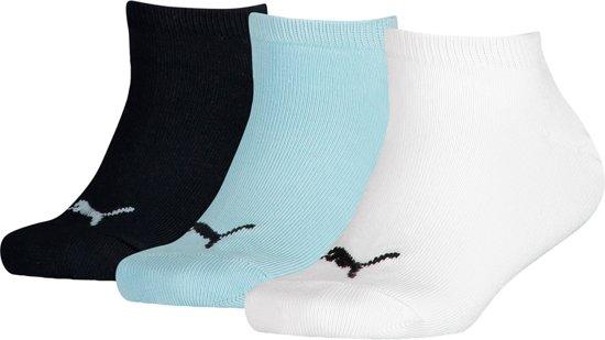 Puma Kids 3 Pack Sneaker Sokken Invisible Wit Blauw Zwart 27 30