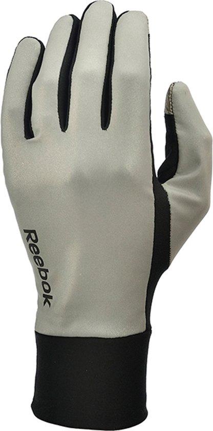 Reebok Running - Handschoenen - Reflecterend - Maat S - Grijs/Zwart