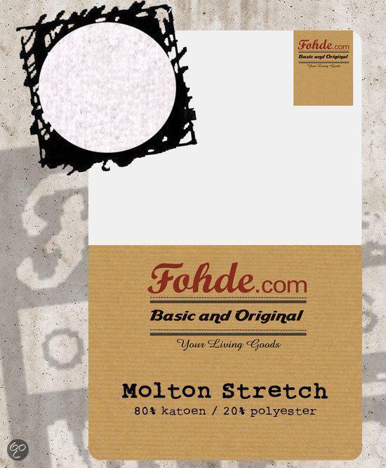 Fohde Hoeslaken Molton Stretch hoeslakens - 180 X 220 cm
