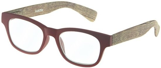 Lookofar Leesbril Wood Rood/bruin Sterkte +1,50 (le-0166c)