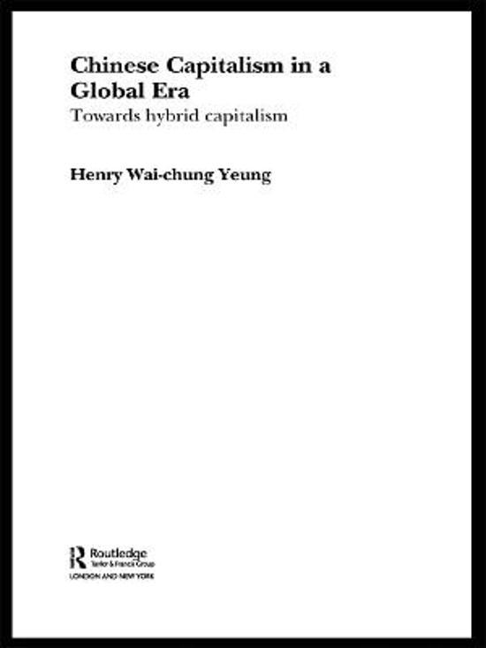 Chinese Capitalism in a Global Era