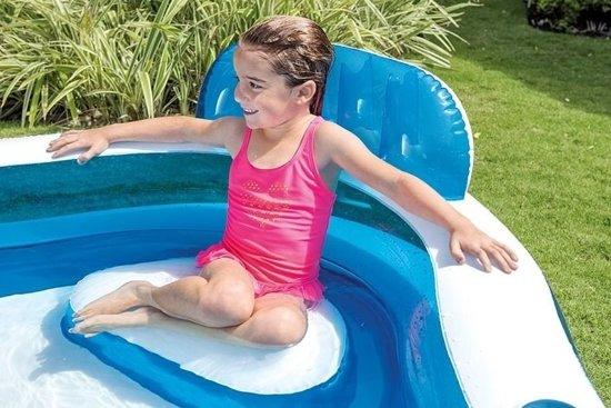 Opblaasbaar zwembad met stoeltje (met reparatiesetje)