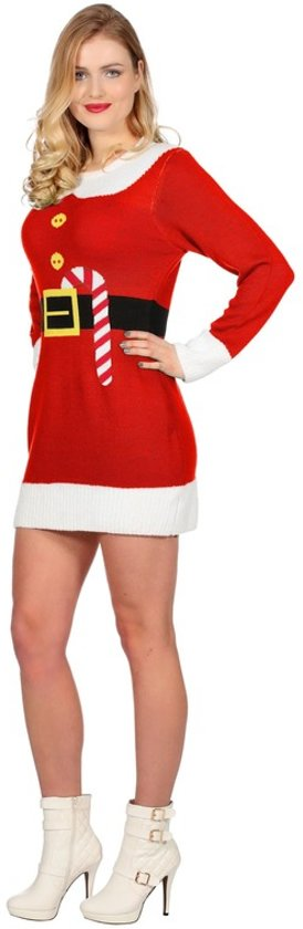 Kerst Jurk M.Bol Com Rode Kerst Jurk Met Print Voor Dames 38 M