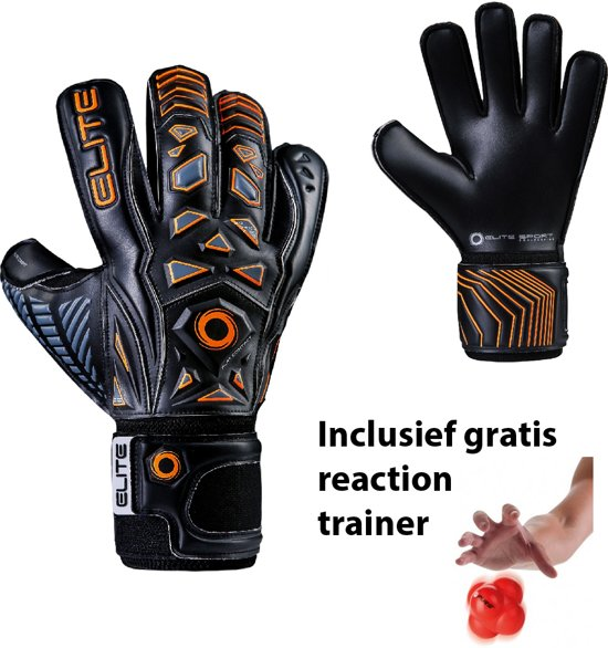Elite - Combat - Keepershandschoenen - inclusief Reaction trainer - maat 6 - voetbal keepershandschoenen - keepershandschoen - Goalkeeper handschoen
