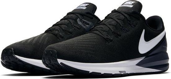 Nike Air Zoom Structure 22 Heren Sportschoenen - Black/White-Gridiron - Maat 45