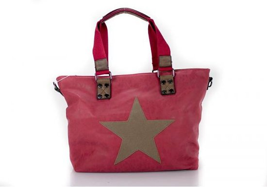 d82ffab30e9 bol.com | Tas met ster kunstlederen shopper rood