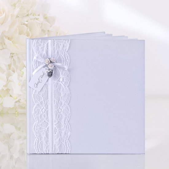 Gastenboek Wit Met Kant Valentinaa
