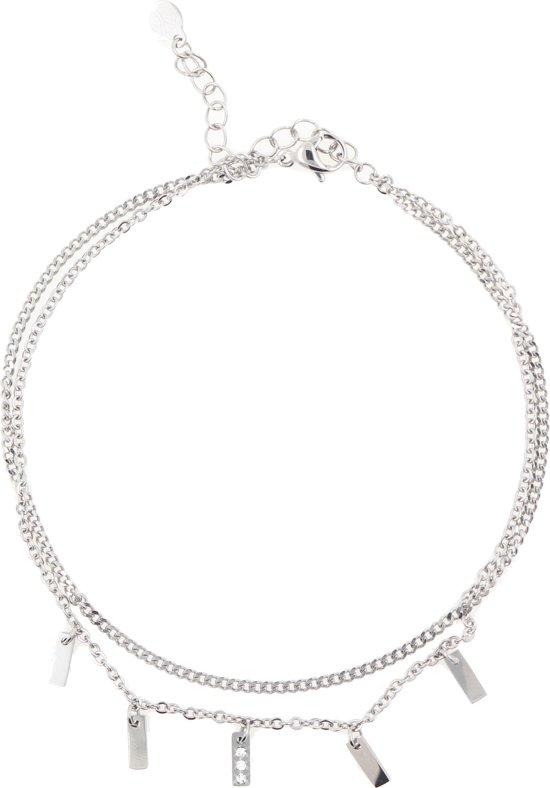 Yolora enkelbandje - Swarovski kristal - Zilver kleurig - Dames - YO-142-E-M