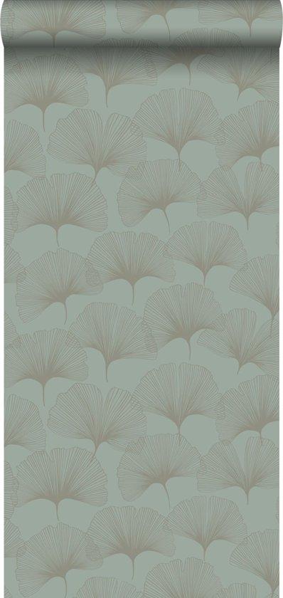 Origin behang ginkgo bladeren zeegroen - 347733