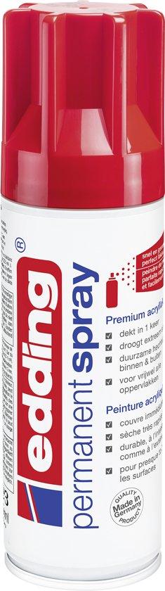 edding 5200 permanent spray premium acrylverf verkeersrood glanzend RAL 3020