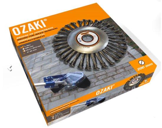 Ozaki Onkruidborstel (Ø 200 mm, boring 20/25,4 mm)