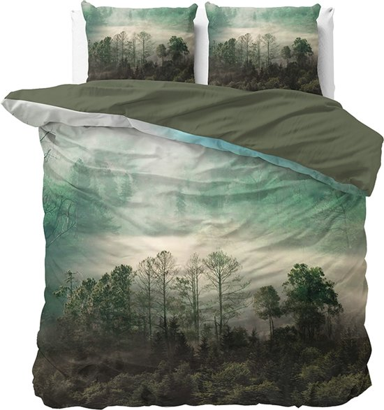 Dreamhouse Nature Forest Green - Dekbedovertrekset - Lits-Jumeaux - 240x200/220 + 2 kussenslopen 60x70 - Groen