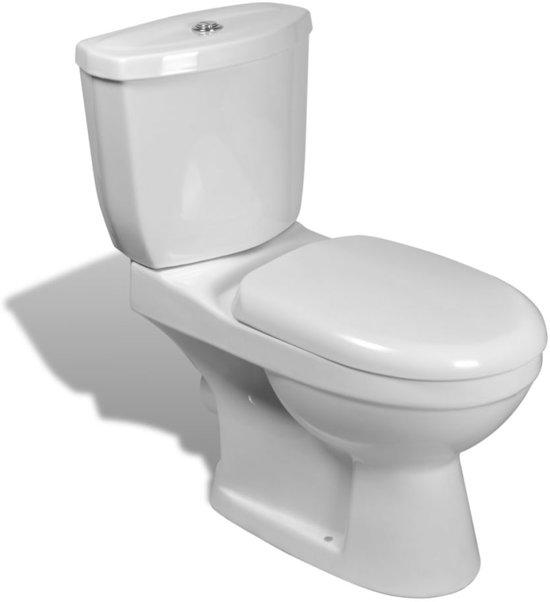 vidaXL Toilet met stortbak (wit)