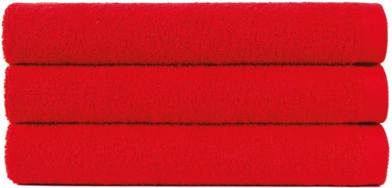 6 handdoeken 50x90 cm uni alpha 400 gr/m2 rood col 2566