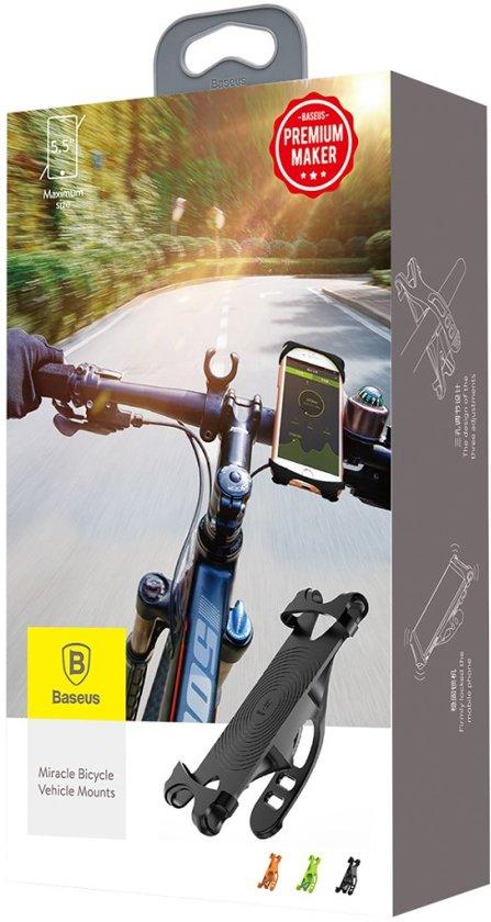 Baseus Fietshouder voor iPhone of iPod (zwart)
