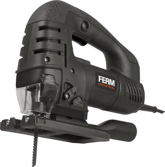 FERM JSM1025P Professionele Decoupeerzaag - 750 Watt - Variabele snelheid - Aluminium voetplaat - 0-45° - 3+1 Pendelposities - 100mm Zaagblad - Incl. Stofzuigadapter en robuuste opbergkoffer