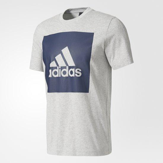 0119af52e36 adidas Essentials Box Logo T-shirt Heren Sportshirt casual - Maat L - Mannen  -