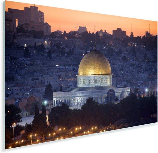 De verlichtte koepel in het Aziatische Jeruzalem Plexiglas 30x20 cm - klein - Foto print op Glas (Plexiglas wanddecoratie)