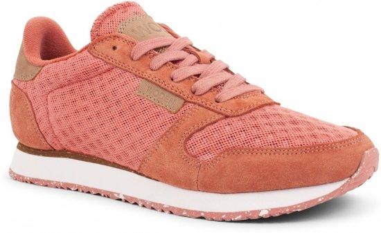Woden Ydun Suède Mesh Roze Dames Sneaker PJRXKhxO