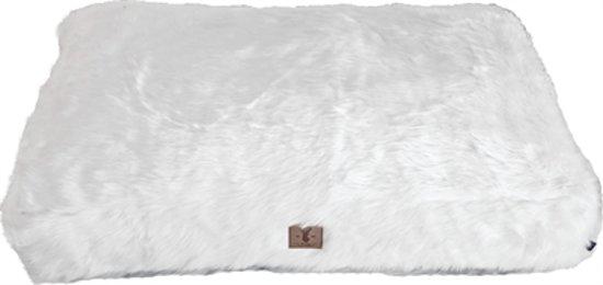 """Boony ligkussen """"Est 1941"""" polar white 85x60 cm"""