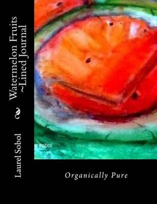 Watermelon Fruits Lined Journal