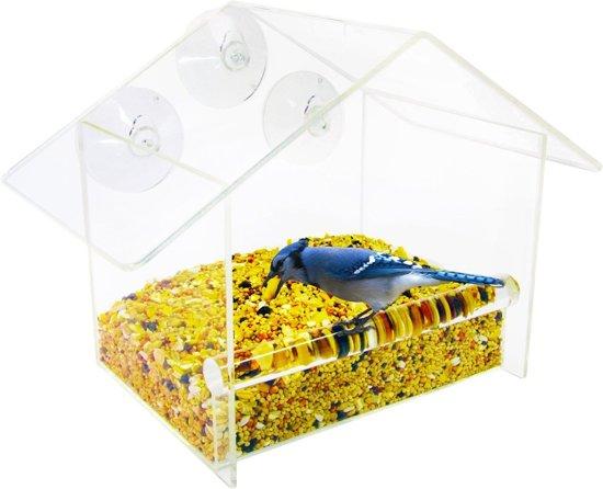 Nature Windows Bird Feeder Raamvoederhuisje - Traditioneel Groot - Transparant