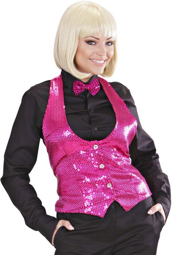 0e01acfb1f8ade Dames Pailletten Vest Roze Vrouw