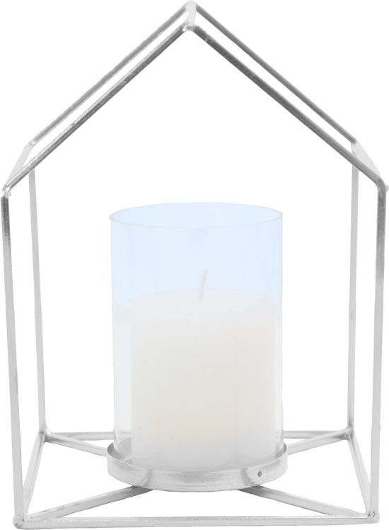 Candle holder House metal white