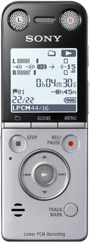 Dictaphone et Magnétophone SONY ICDSX733 GRIS