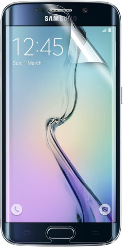 Screenprotector Geschikt voor Samsung Galaxy S6 Edge - Edged (3D) Glas PET Folie Screenprotector Transparant 0.2mm 9H (Full Screen Protector)