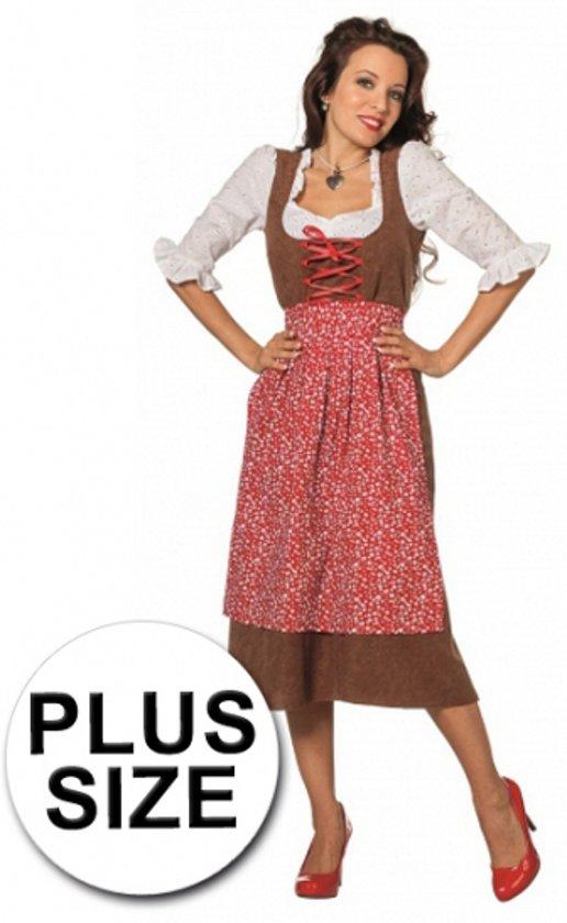 d1e8b7bf2eeeb7 Oktoberfest Grote maat lange tiroler jurk 52 (6xl)