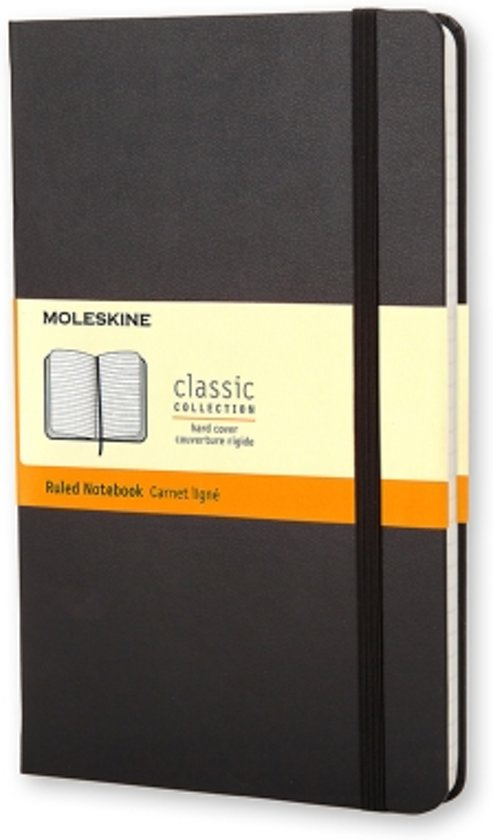 Moleskine Classic Notebook - Large - Ruled - Hard Cover - Black
