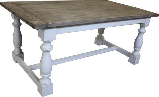 Grenen Uitschuifbare Eettafel.Bol Com Hsm Collection Eettafel Cornwall 190x100 Wit