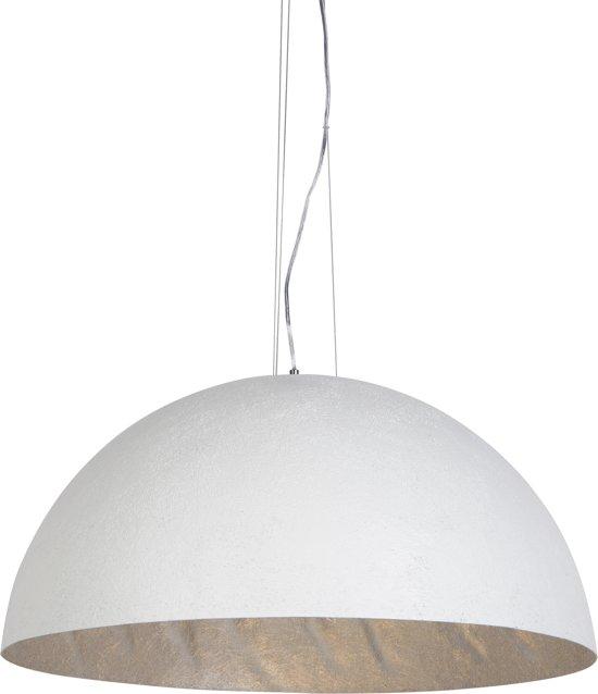 New bol.com | QAZQA Magna fiber - Hanglamp met lampenkap - 3 lichts KK45