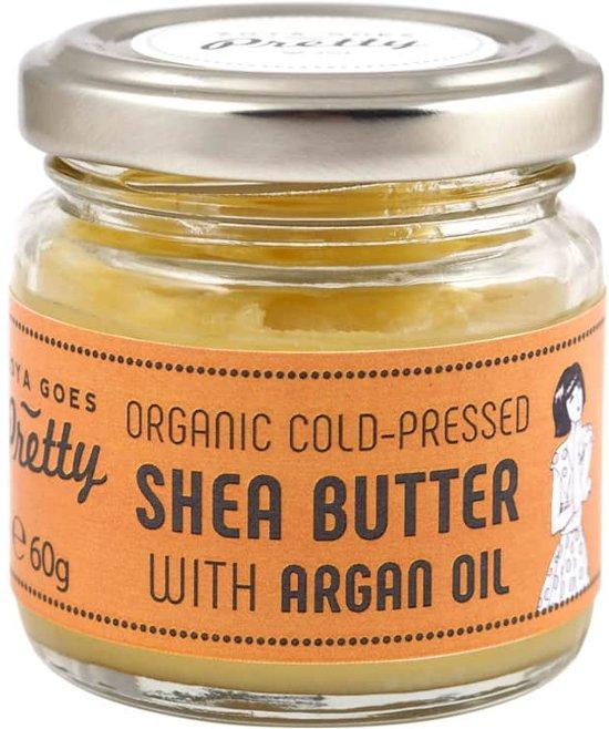 Organic Cold Pressed Shea Butter met Argan Oil - 60 gram