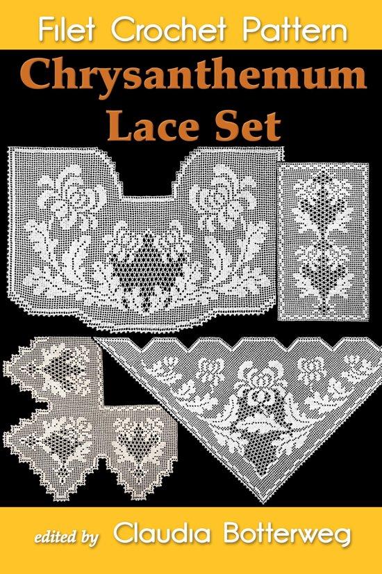 Chrysanthemum Lace Set Filet Crochet Pattern