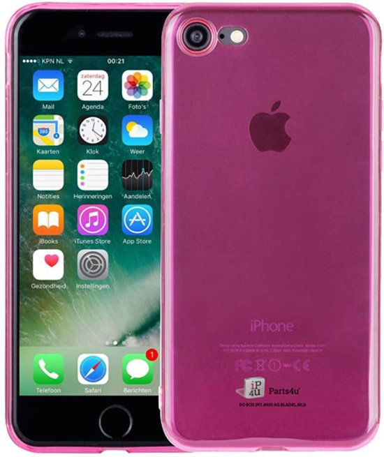 iParts4u Ultra Dun iPhone 7 Cover Siliconen Roze Transp in Haarlemmerliede