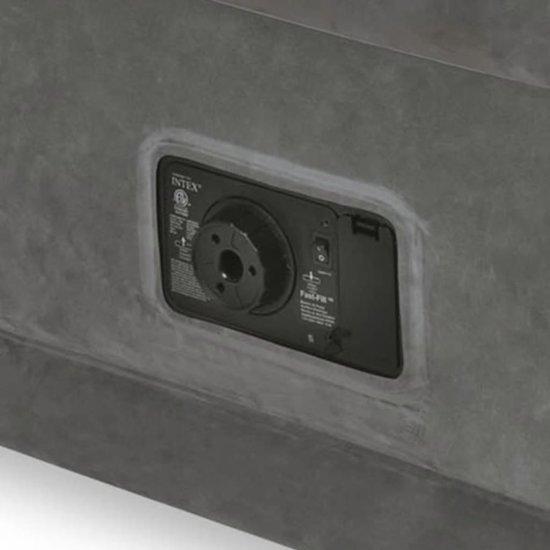 Intex Comfortabel pluche luchtbed PVC 152x203x46 cm wit 64414