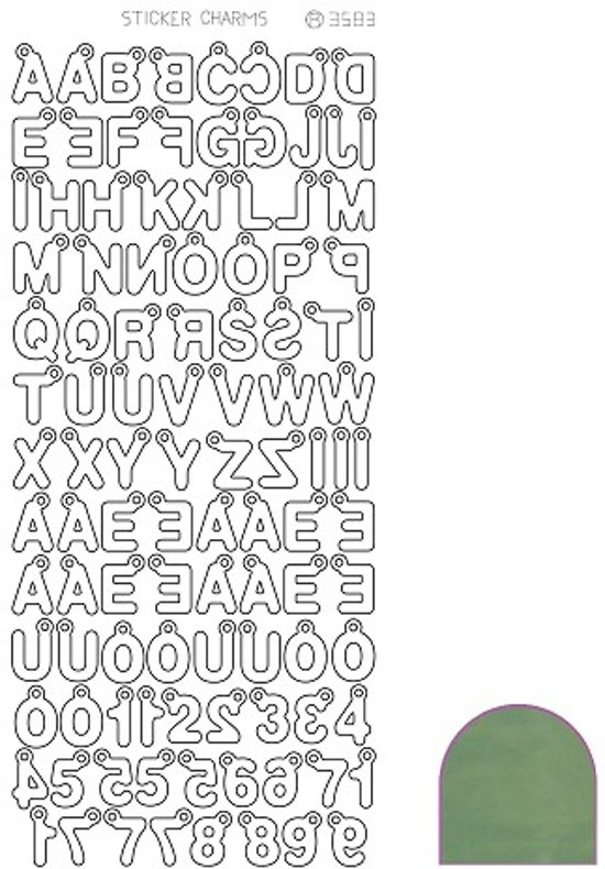 Sticker Charm ABC - Mirror Apple
