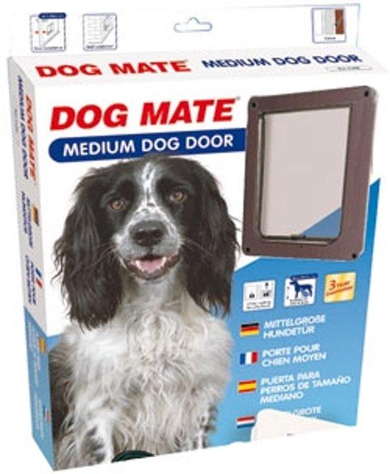 DOG MATE 215B hondenluik medium 350X290MM, bruin