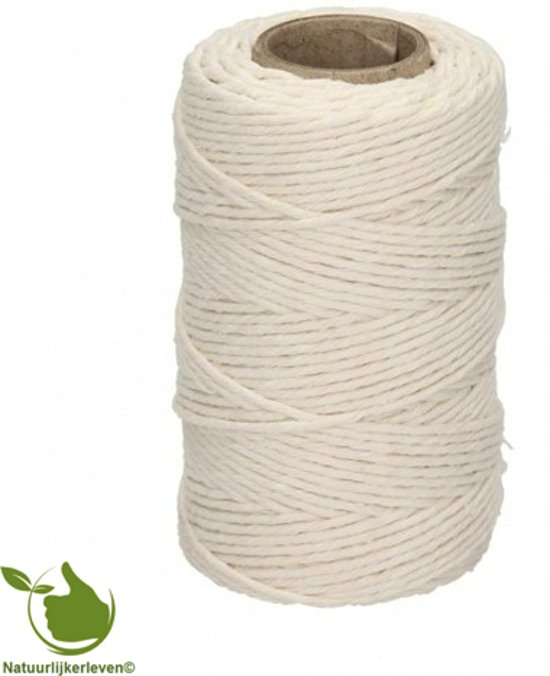 Slagerstouw wit katoen 100gr