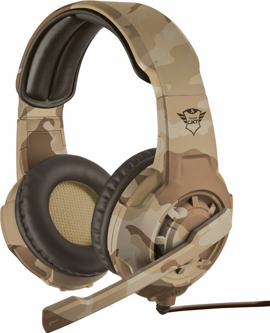 GXT 310 Radius - On-ear Gaming Headset (PC + PS4 + Xbox One) - Desert Camouflage