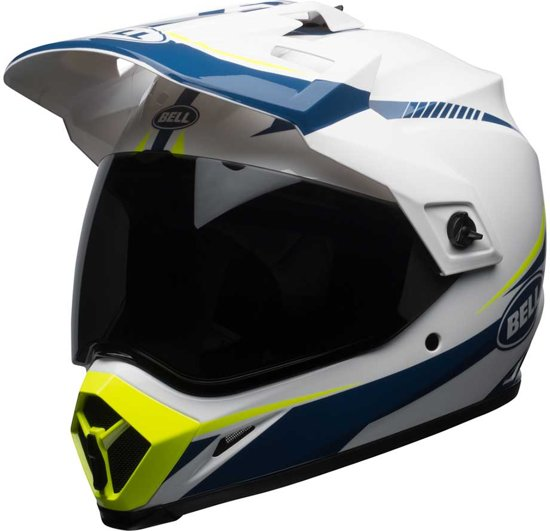 Bell Crosshelm/Endurohelm MX-9 Adventure MIPS® Gloss White/Blue/Yellow Torch-L