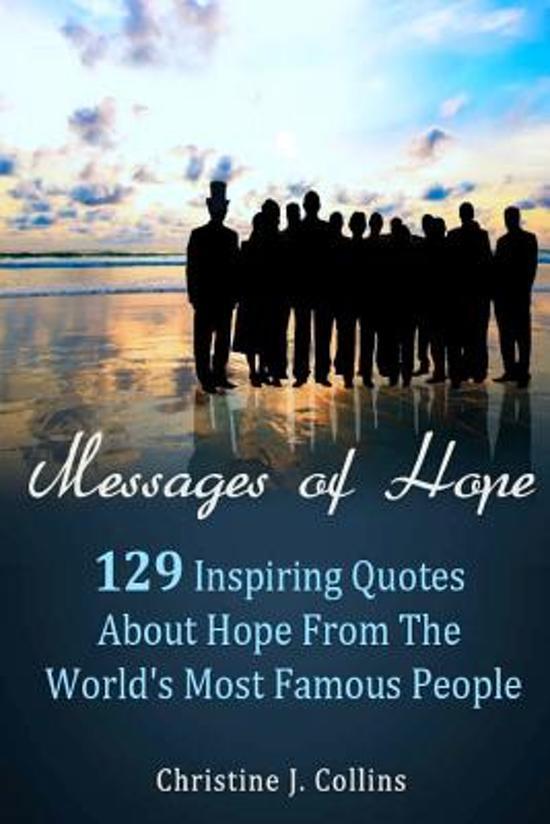 Image of: Motivational Quotes Samenvatting Bolcom Bolcom Messages Of Hope Christine Collins 9781475047011 Boeken