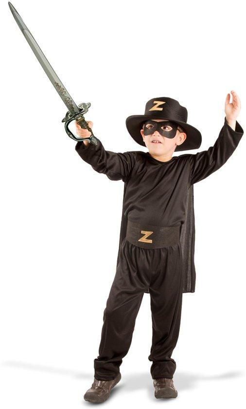 Zorro Kinderkostuum - Carnavalskleding - 5-delig - Maat S
