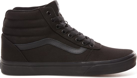 Vans Mn Ward Hi Heren Sneakers - (Canvas) Black/Black - Maat 43