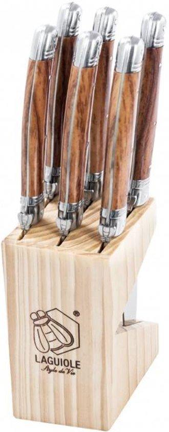 Laguiole Style de Vie Premium Line Steakmessen Wood