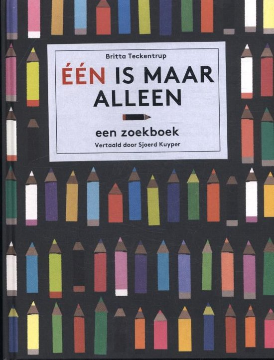 Boek cover Eén is maar alleen. Een zoekboek van Britta Teckentrup (Hardcover)