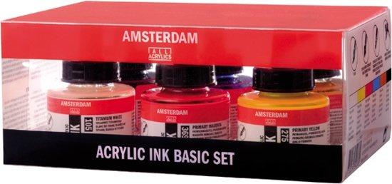 Amsterdam acrylinkt 6 flacons 30ml
