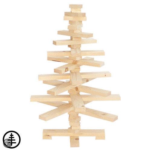 Houten kerstboom vurenhout kant en klaar geleverd geen bouwpakket - Een houten boom maken ...